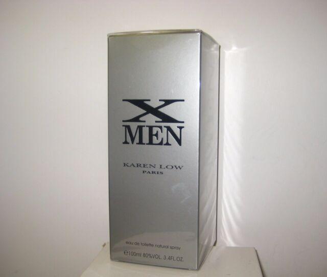 X Men Karen Low for MEN 3.4 oz EDT Spray NEW SEALED BOX ORIGINAL FORMULA RARE