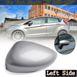 Left Driver Side Silver Wing Door Mirror Cover Cap For Ford Fiesta MK7 2008-2017 6971310861176