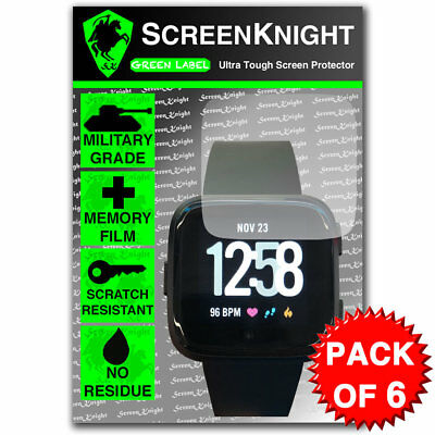 ScreenKnight FITBIT VERSA SCREEN PROTECTOR Military Shield - PACK OF 6