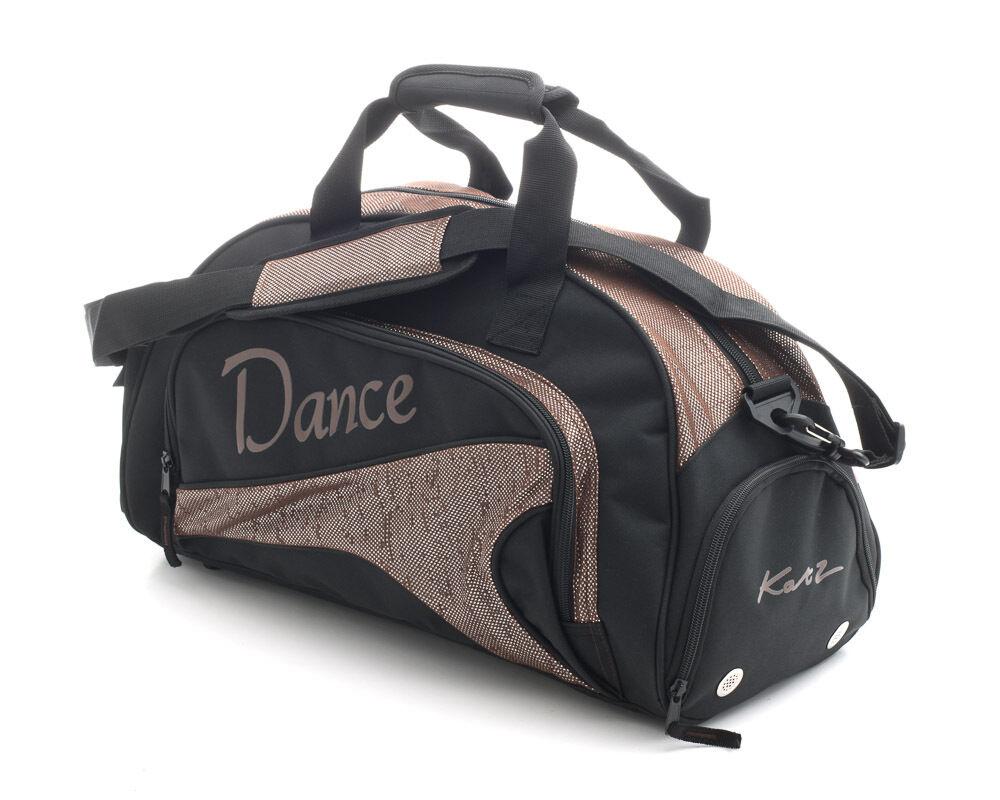 Medium Sparkly Brown Dance Ballet Tap Kit Holdall Sports Bag KB94 By Katz