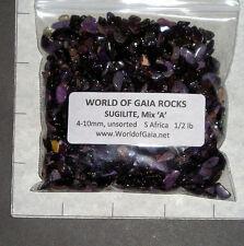 SUGILITE Mix 'A' purple 4-10mm tumbled 1/2 lb bulk xmini stones Bustamite SAVE