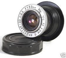 INDUSTAR-22 5cm 50mm f3.5 M39 LTM RF USSR fits Zeiss ZM Leica M Fuji FX NEX m4/3