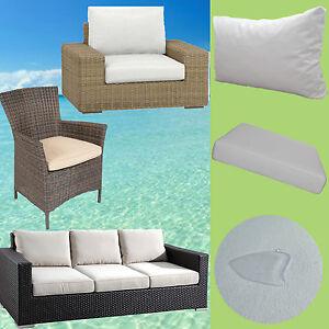 Auflage Rattan Lounge Gartenmöbel Sessel Stuhl Bank Polster