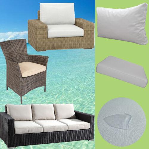 Auflage Rattan Lounge Gartenmöbel Sessel Stuhl Bank Polster+Rückenkissen 50x50cm