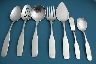 Oneida Community PATRICK HENRY 6 Serving Gravy Meat Fork Sugar Butter Spoons