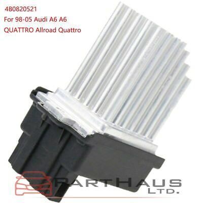 Audi AC Heater Blower Regulator Resistor A6 A6 Quattro Allroad Quattro 4B0521