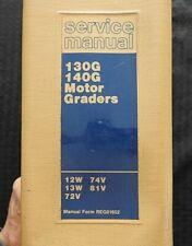Caterpillar 130g 140g Motor Road Grader Service Manual Ser 12w 13w 72v 74v 81v