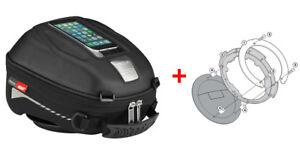 Givi-Tanklock-Combo-Kit-ST602-4-Liter-Tank-Bag-amp-BF04-Ring-Mount