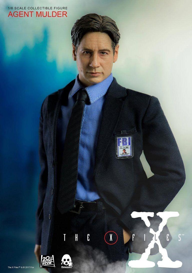 ThreeZero NEW  Agent Fox Mulder  X-Files 1 6 Figure Statue David Duchovny