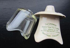 GRIMWADES ADVERTISING PERFECTION PIE FUNNEL + 1 glass pie vent funnel