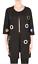 Joseph-Ribkoff-Black-Grommet-Front-3-4-Sleeve-Stretch-Knit-Jacket-183347-NEW thumbnail 1