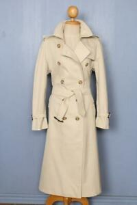 Haut-femme-BURBERRY-Double-Breasted-trench-coat-MAC-begie-UK-12-14-Belle