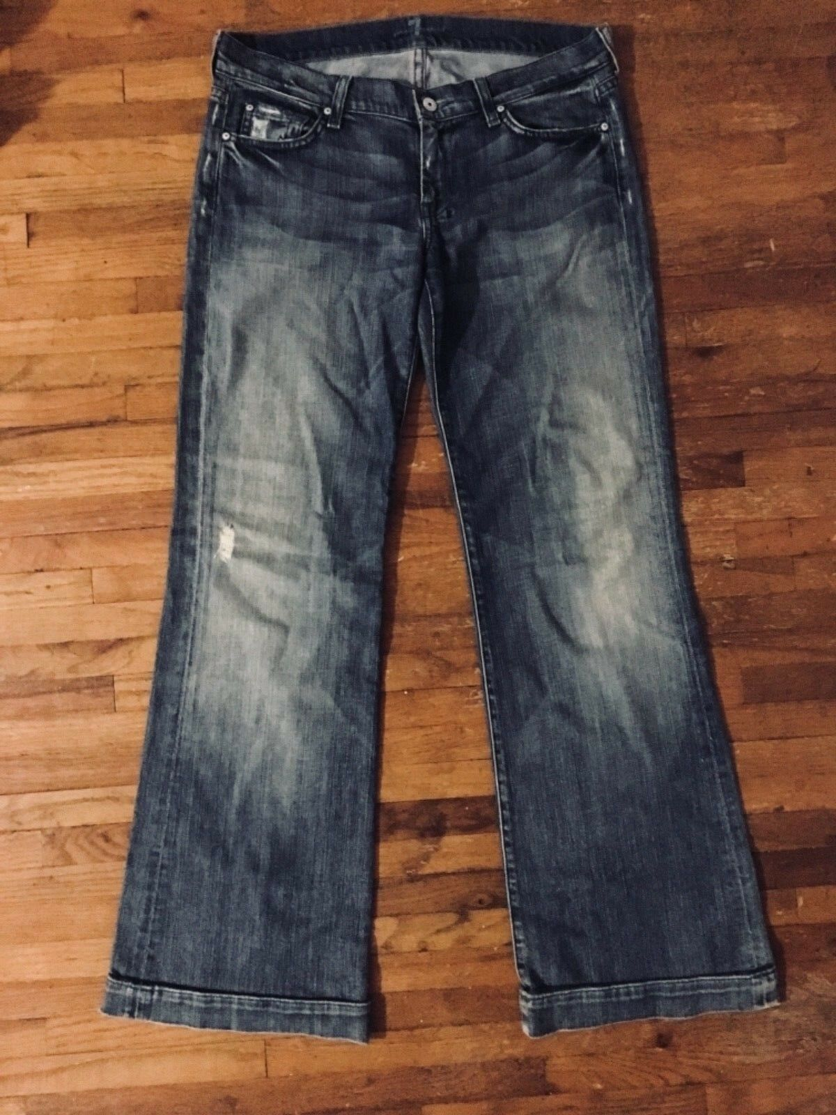 Stylish For all 7 Mankind Washed bluee Jeans Size 30
