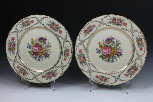 """2 Excellent! Rosenthal  Queen/'s Bouquet 10 1//2/"""" Cabinet Dinner Plate Plates"""