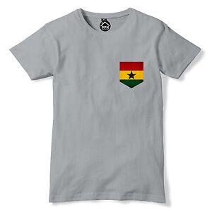 Tasca-con-stampa-vintage-Ghana-Bandiera-Nazioni-Africa-T-shirt-calcio-fan-T-Shirt-317