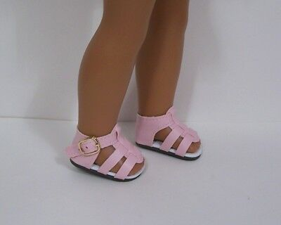 "PURPLE Strappy Sandals Doll Shoes For 14/"" American Girl Wellie Wishers Debs"