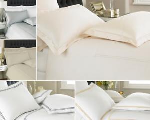 400-Hilos-duvet-cover-set-400TC-Premium-Hotel-Calidad-Edredon-Conjuntos-de-Cama