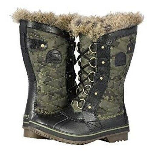 outlet online New donna Sorel Tofino II II II Hiker verde Coated Canvas Waterproof stivali NL3071-371  prezzi più convenienti