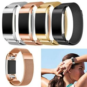 Luxury-Stainless-Steel-Metal-Watch-Band-Wrist-Strap-For-Fitbit-Charge-2-Tracker