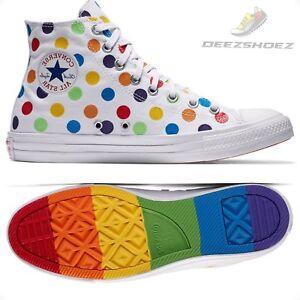 1cfa45bae2b204 Converse Miley Cyrus PRIDE Dots Chuck Taylor white Unisex Us Size M ...