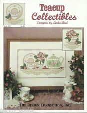Counted Cross Stitch Pattern Leaflet Design Connection Teacup Collectibles 2001
