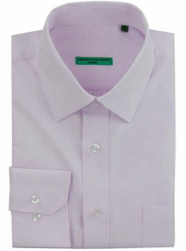 DTI BB Signature Mens Classic Fit Tone On Diamond Pure Cotton Dress Shirt