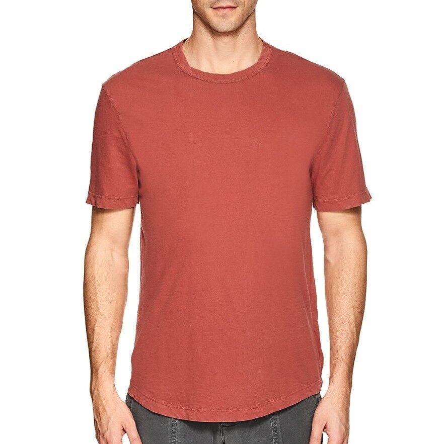 James Perse Men's Short Sleeve Clear Jersey Crew T-Shirt Cotton USA Sunstone