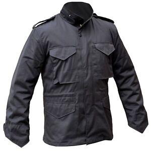 Field M65 imbottitura nera con Giacca idrorepellente Coat Imbottito Winter qfETP
