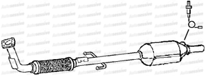 Seat Arosa 1.4 Aud Anw 59B Hatchback 01-04 Exhaust Front Pipe And Catalyst