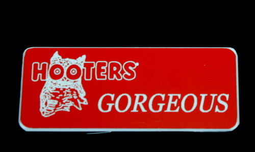 Hooters Uniform Georgeous Name Tag Nametag Waitress Bartender Badge Pin