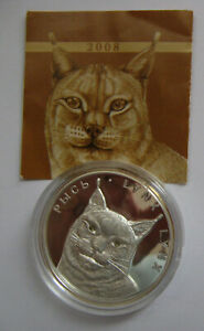 BELARUS-WEIssRUSSLAND-20-ROUBLE-2008-LYNX-LUCHS-SILVER-SILBER-PROOF-PP-1OZ