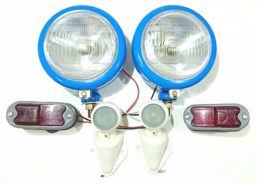 Fordson Super Major Headlight Lamp Light Set Tractor In Grill Headlamps New