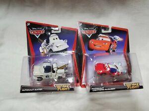 NEW Disney Pixar Cars Diecast Autonaut MATER & Atutonaut Lightning Mcqueen RARE
