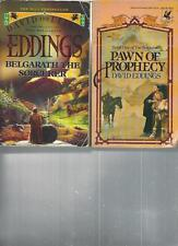 DAVID AND LEIGH EDDINGS - BELGARATH THE SORCERER -  A LOT OF 2 BOOKS