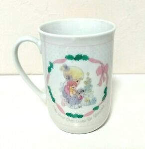 VINTAGE-PRECIOUS-MOMENTS-1991-MAY-YOUR-CHRISTMAS-BE-BLESSED-ENESCO-MUG
