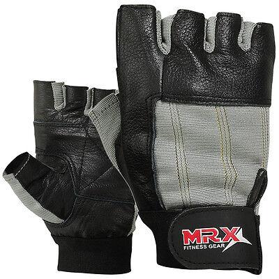 Weight Lifting Gloves Training GYM Glove Power Leather Long Elastic Wrist MRX