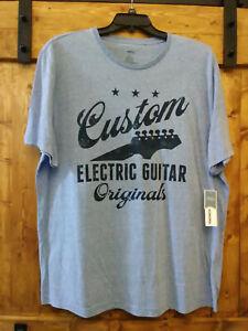 Custom Electric Guitars Tee Sonoma Big /& Tall Graphic T-Shirt