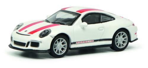 Schuco Edition 1:87 452629900 Porsche 911 R weiß//rot  NEU