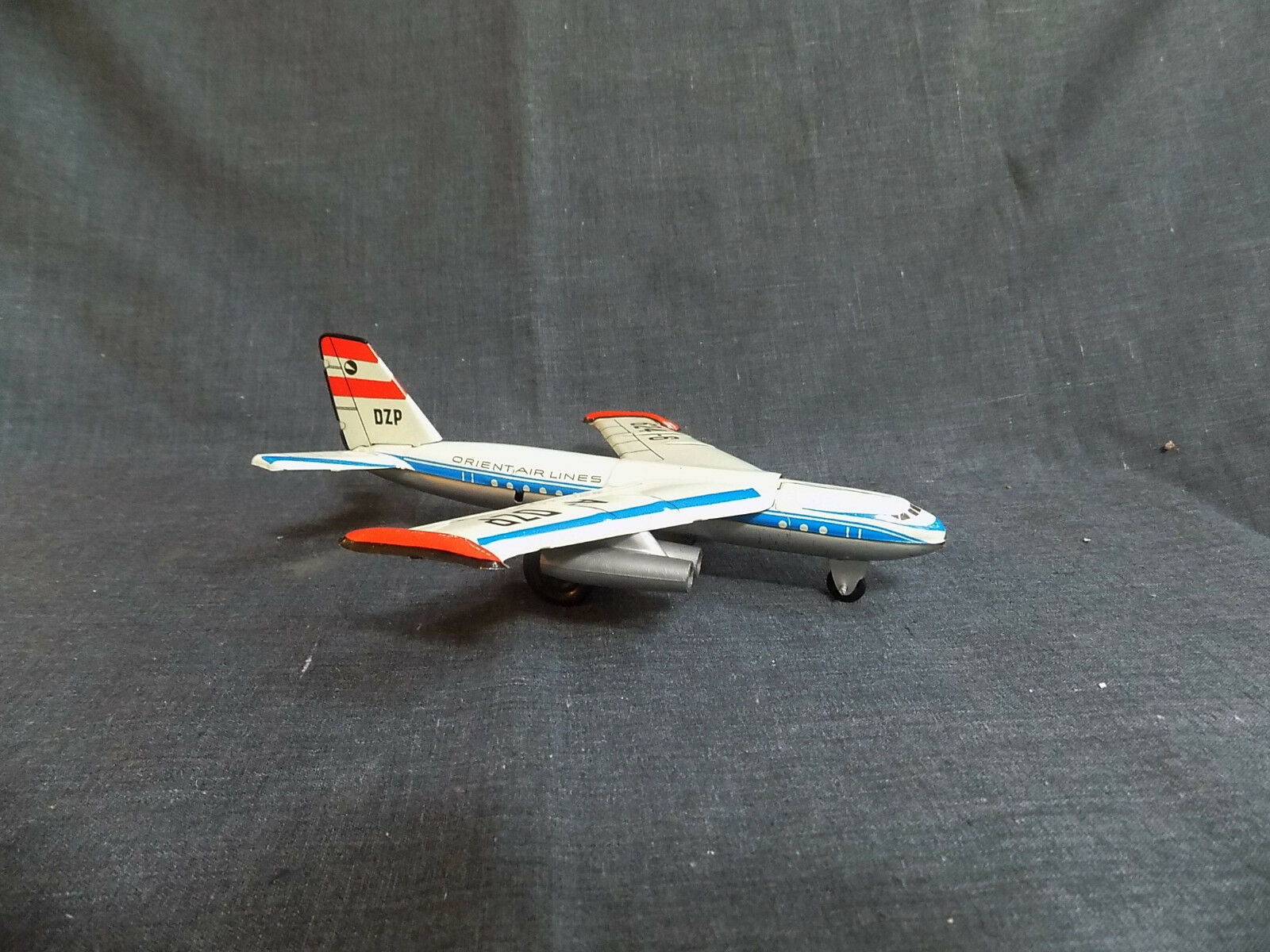Vintage tin toy friction A-Liaisons 624-6 ORIENT AIRLINES AVION-Allemagne