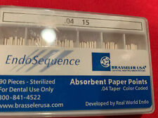 1 New Pack Of Brasseler Endosequence Paper Points Size 15 Taper 04 062019