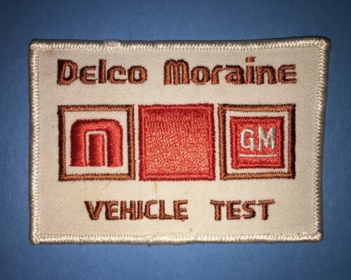 Delco Moraine Vehicle Test Collectible Employee Hat Jacket Coveralls Patch Crest