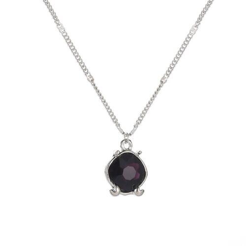Women Multi Color Necklace Zodiac Crystal Pendant Collar Clavicle  Chian Jewelry