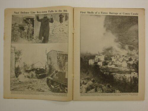 War Illustrated Sample Bundle 8 Random Issues Original WW2 Newspaper, 1939-46