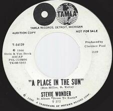 Stevie Wonder A Place In The Sun 45 EX 1966 Motown Soul DJ Promo Tamla T-54139