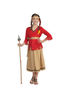 Image is loading INDIAN-GIRL-COSTUME-NATIVE-AMERICAN-PRINCESS-POCAHONTAS- CHILD-  sc 1 st  eBay & INDIAN GIRL COSTUME NATIVE AMERICAN PRINCESS POCAHONTAS CHILD KIDS ...