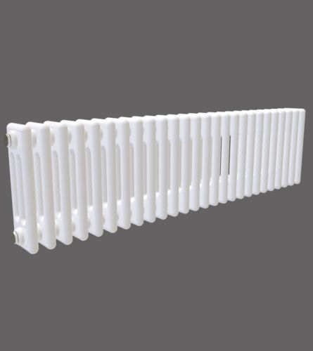 Horizontal triple colonne traditionnel Radiateur Style Victorien Anthracite Blanc