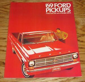1969  69    FORD TRUCK  SALES BROCHURE-F-100//F-250//F-350