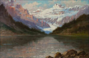 LMOP995 100% hand painted Mountain scenery landscape oil painting on canvas art