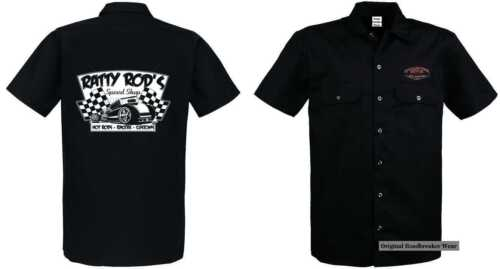 Rod` `50 us Hot Car Mit Ratty Rod Oldschool amp; V8 Worker Shirt Stylemotiv Modell UwxOnYRz