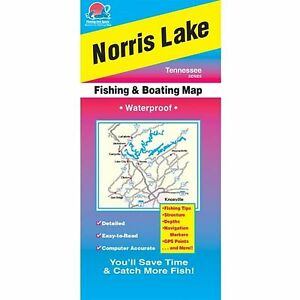 Fishing Hotspots A406 Tennessee Lake Maps Norris Lake